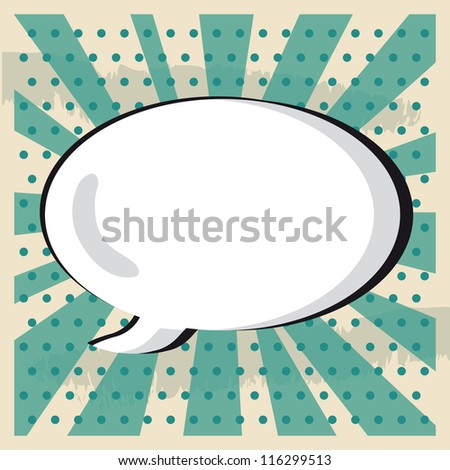 Boom pop art cloud on a vintage grunge  background sticker - stock vector