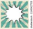 Boom pop art cloud on a vintagegrunge  background sticker - stock vector
