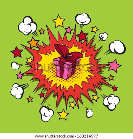 Boom present backgrounds, vector illustration - stock vector