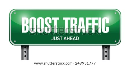 boost traffic road sign illustration design over a white background - stock vector
