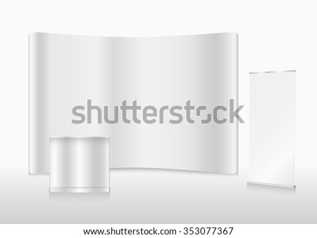 booth mock up - stock vector