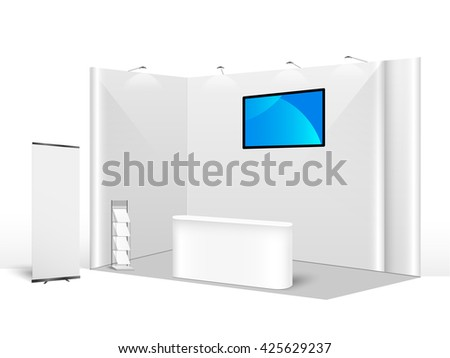 Booth stock photos images pictures shutterstock for Trade show poll booth