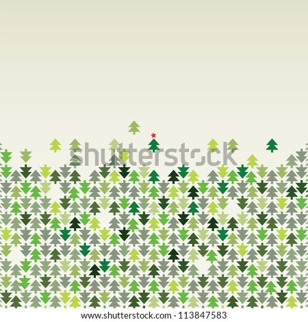 border from trees of arrows - stock vector