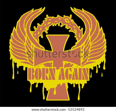 born again - stock vector
