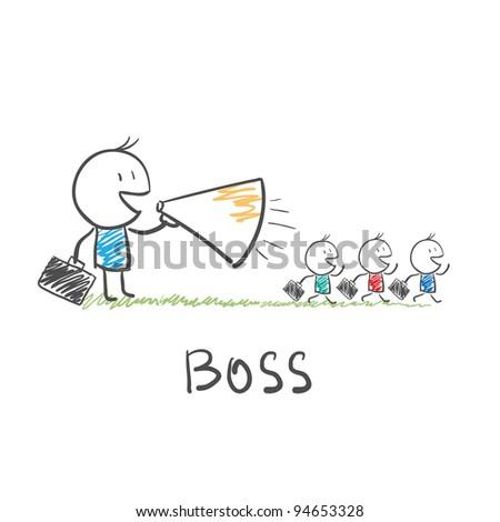boss - stock vector