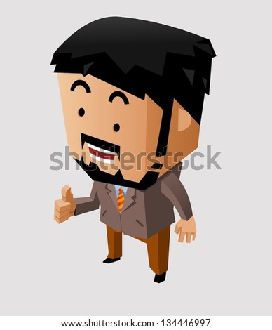 Boss give thumbs up. Vector - stock vector