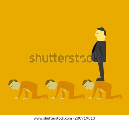 Boss oppressive employee - stock vector