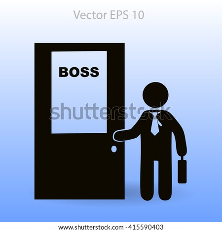 Boss vector icon - stock vector
