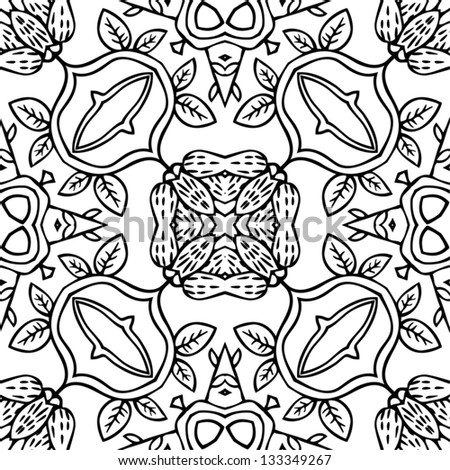 botany seamless pattern - stock vector