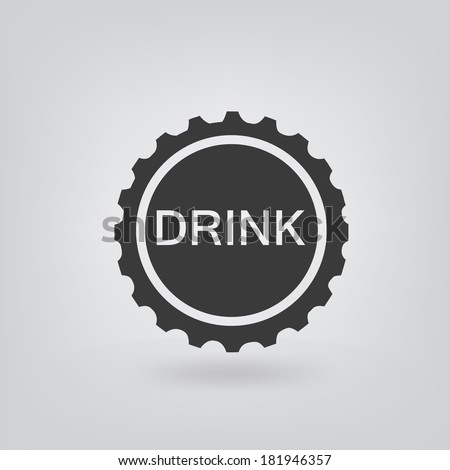 bottle cap icon - stock vector