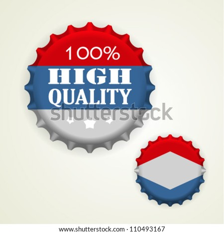Bottle caps - stock vector