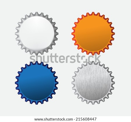 Bottle caps icon - stock vector