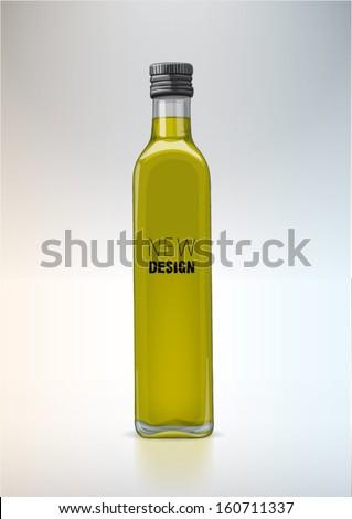 Bottle for new design. Olive oil - stock vector