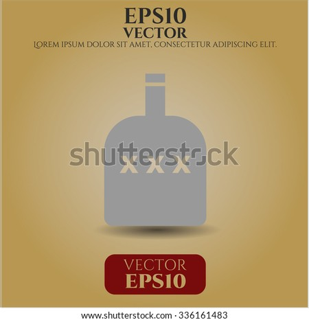 Bottle of alcohol symbol - stock vector