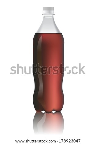 bottle of cola soda isolate on white background vector illustration - stock vector