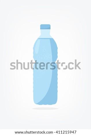 bottle of water - stock vector