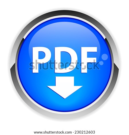 bouton internet PDF downloading - stock vector