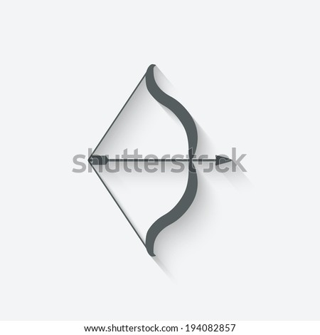 bow and arrow - vector illustration. eps 10 - stock vector