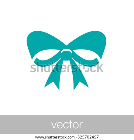 Bow icon. Concept flat style design illustration icon. - stock vector