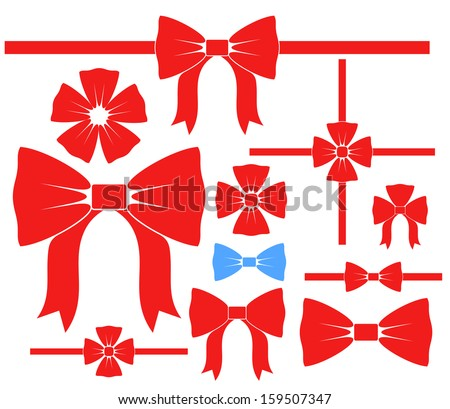 Bow. Set  - stock vector