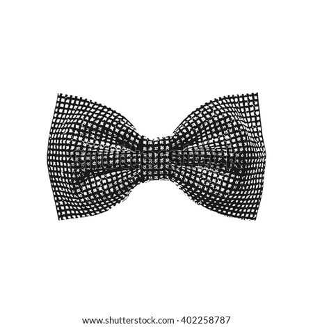 bow tie. black and white color. vector illustration - stock vector