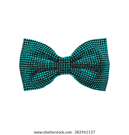 bow tie. blue color. vector illustration - stock vector