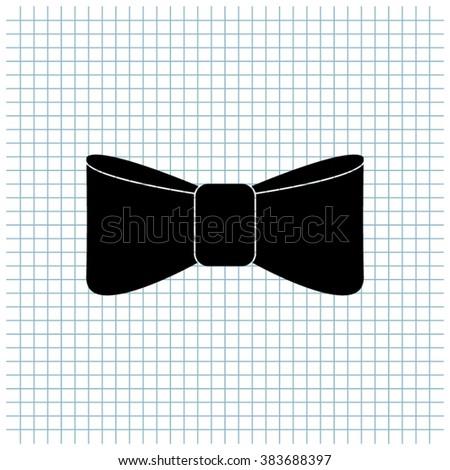 bow tie vector icon - stock vector
