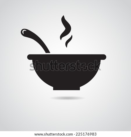 Bowl icon isolated on white background. Vector art. - stock vector