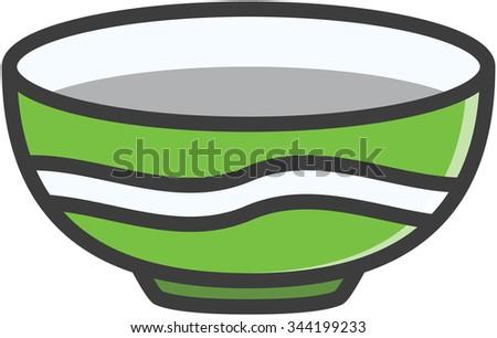 Bowl vector cartoon illustration - stock vector