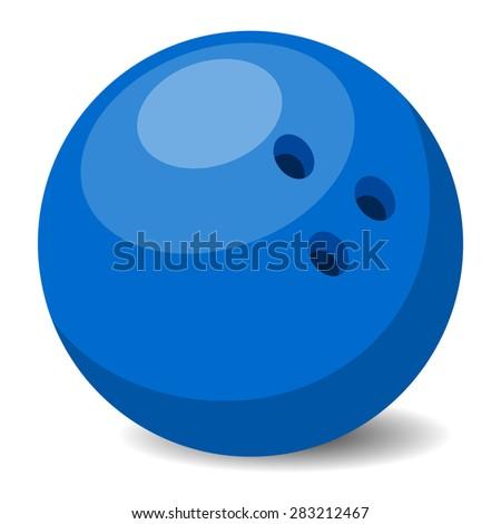 Bowling ball - stock vector