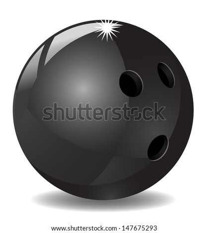 Bowling Ball icon - stock vector
