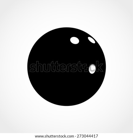 Bowling Ball Icon Isolated on White Background - stock vector