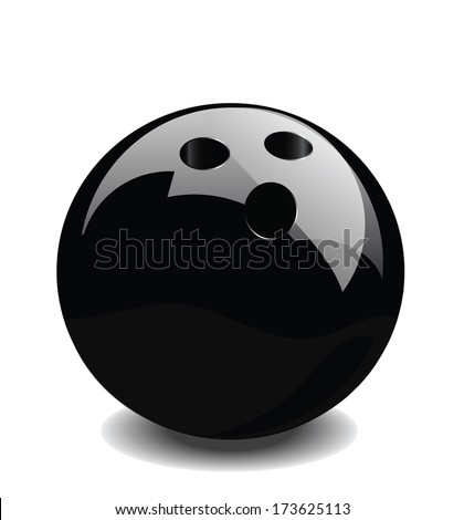 bowling ball vector - stock vector