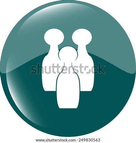 Bowling game sign icon. bowling pin skittle symbol - stock vector