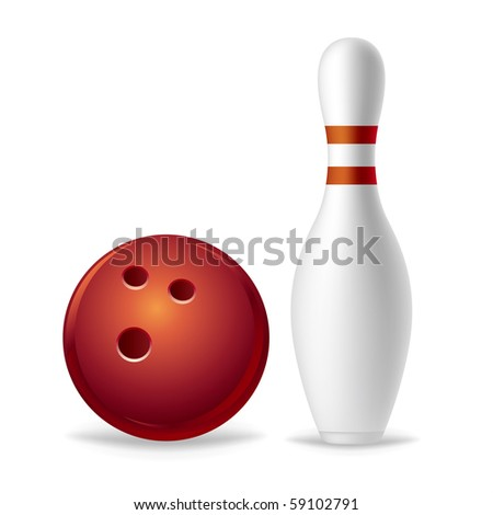 bowling on a white background - stock vector