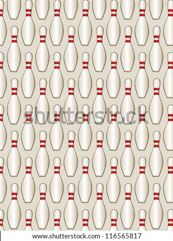 Bowling Pin Tileable Pattern - stock vector