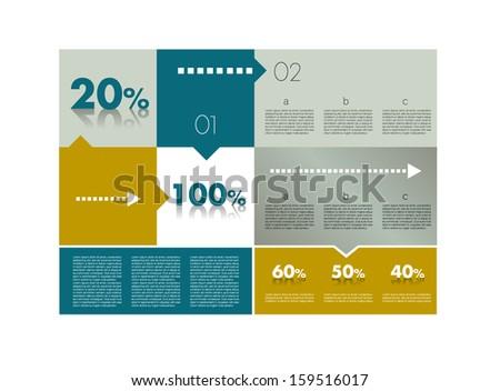 Box diagram for infographics. Web diagram template. Vector scheme. - stock vector