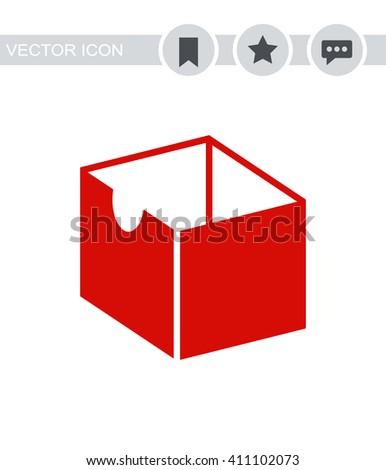 Box Icon. Box Icon Vector. Box Icon Sign. Box Icon Picture. Box Icon Image. Box Icon Illustration. Box Icon JPEG. Box Icon EPS10. Box Icon Logo. Box Icon Button. Box Icon Symbol. Box Icon AI. - stock vector