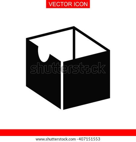 Box Icon. Box Vector. Box Icon Button. Box Picture. Box Image. Box Illustration. Box JPEG. Box Icon EPS. Box Design. Box Sign. Box Symbol. Box AI. - stock vector