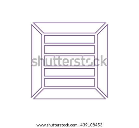 Box icon. Cargo box icon. Delivery box icon. Transportation sign. Logistic sign. shipping sign. - stock vector