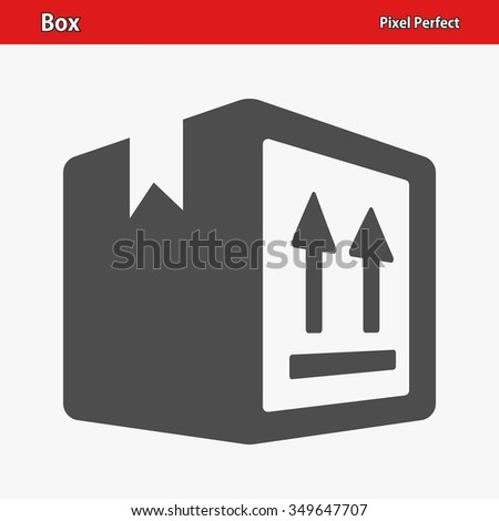 Box Icon. Professional, pixel perfect icons optimized for both large and small resolutions. EPS 8 format. - stock vector