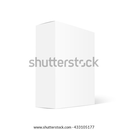 Box mockup - stock vector
