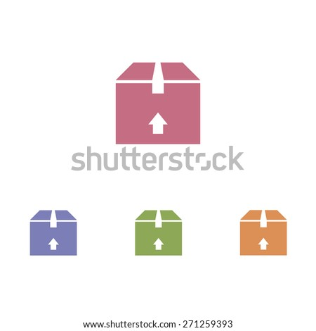 Box - Up Sign on white background - stock vector