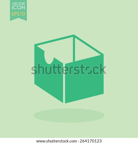 Box vector icon. - stock vector