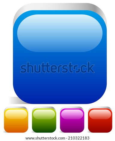 Box with space - stock vector