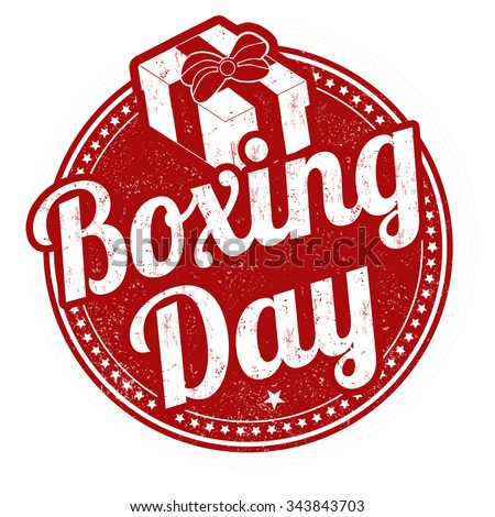 Boxing day grunge rubber stamp on white background, vector illustration - stock vector