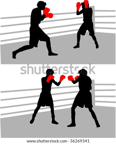 boxing fight - stock vector