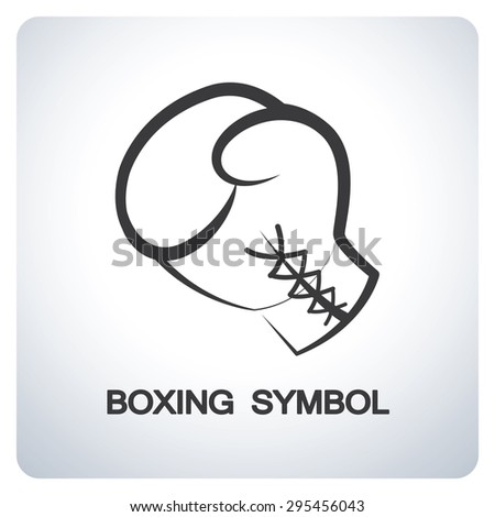 Boxing glove. Icon symbol logo design. Vector illustration. - stock vector