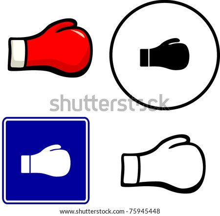 boxing glove illustration sign and symbol - stock vector