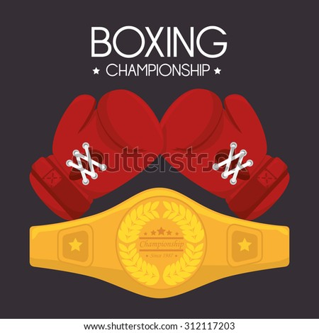 boxing lifestyle design, vector illustration eps 10. - stock vector